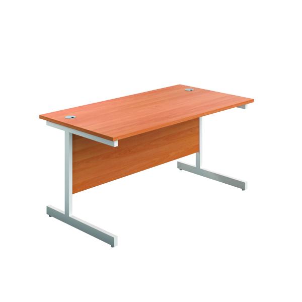 FR First 1400 Rect Desk Beech/White