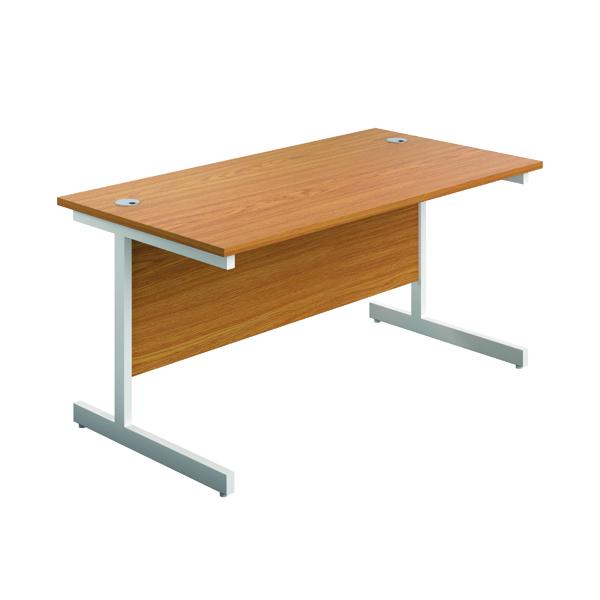 FR First 1400 Rect Desk N/Oak/White