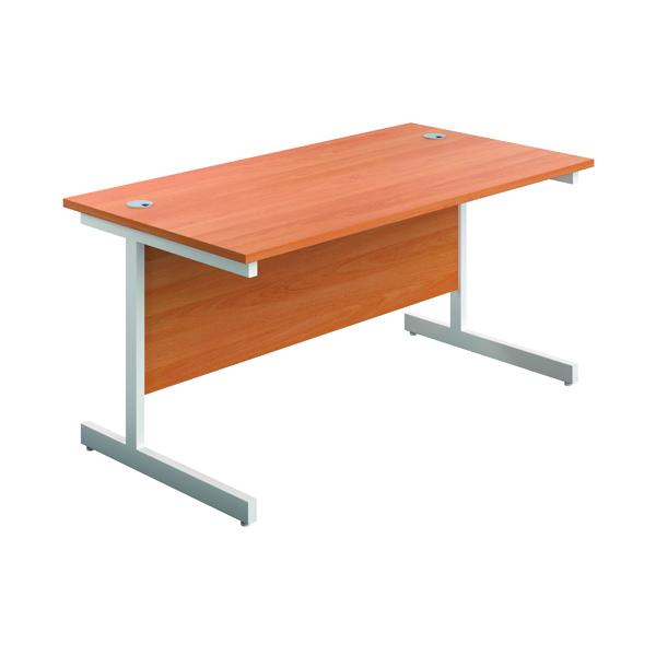 FR First 1600 Rect Desk Beech/White