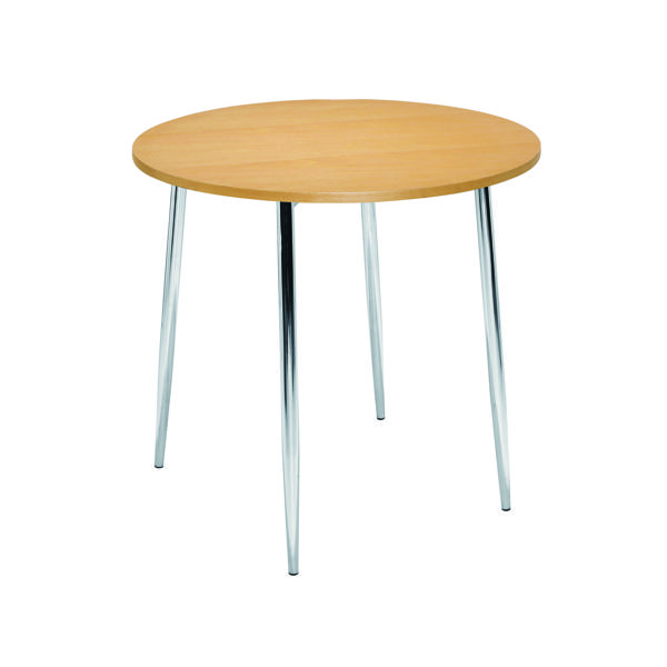 FF Arista Bch Chrome Round Bistro Table