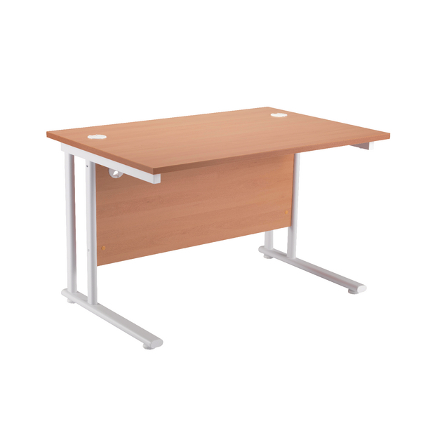 Fr First Rect Cant Desk 1200 Bch White