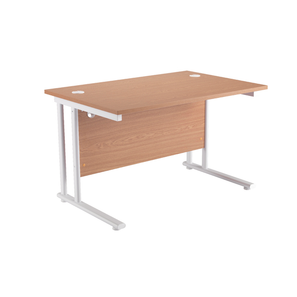 Fr First Rect Cant Desk 1200 Oak White