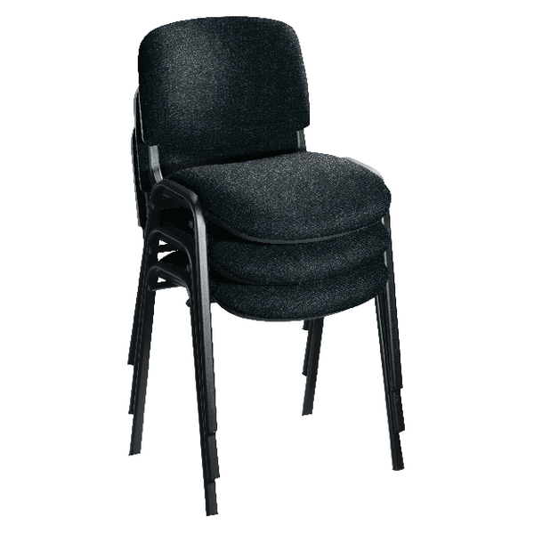 FR FIRST STACKING CHAIR CHARC BLK FRAME