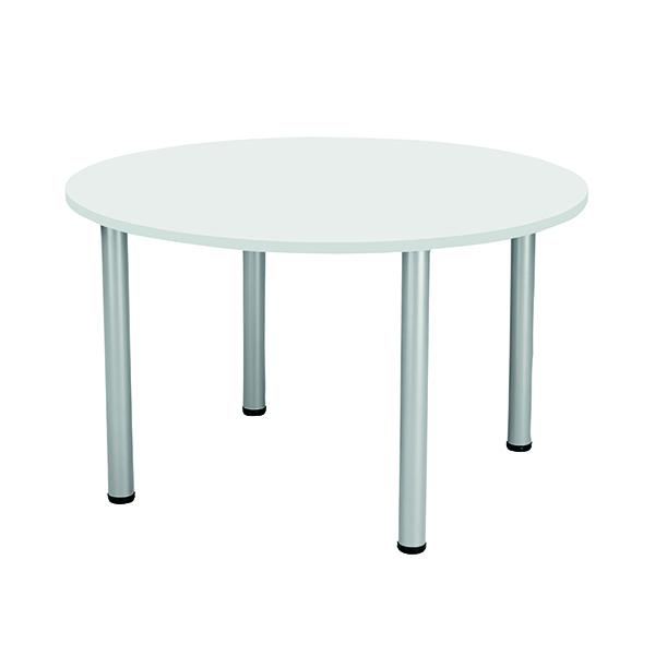 Circular Meeting Table 1200Dia White