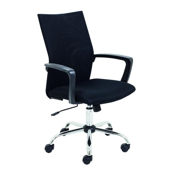 FF Jemini Chair W/Fixed Arm Blk