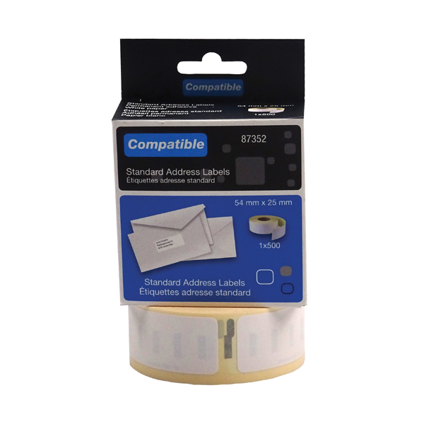 Compat DYMO Return Address 54x25mm Pk500