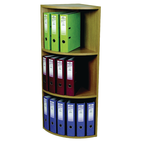 Rotadex Corner Unit 3-Tier Light Oak