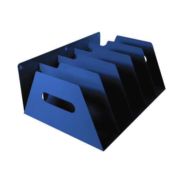 Rotadex 5-Part L/Arch Rack Blue