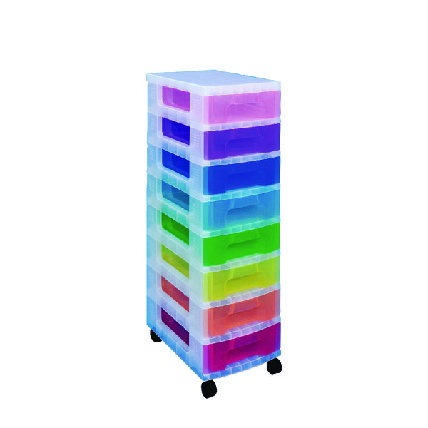 Really Useful 8 Drawer Storage Tower Clr