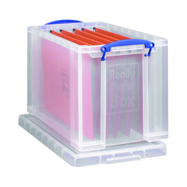 Really Useful 24L Box With Lid Clear