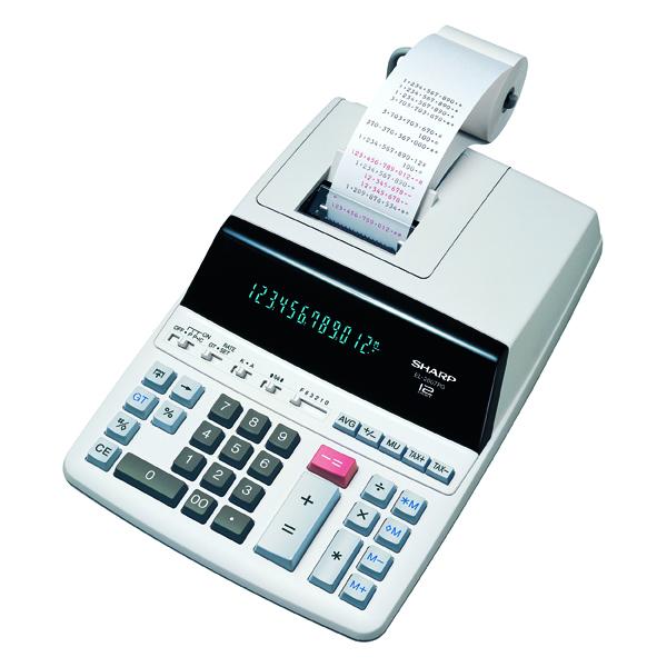 Sharp Printing 12-Digit Fluo Disp Calc