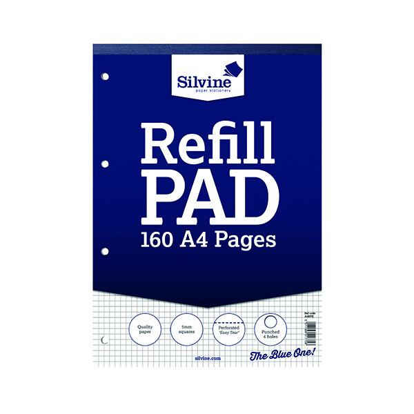 Silvine Square 5mm Refill Pad A4 Pk6