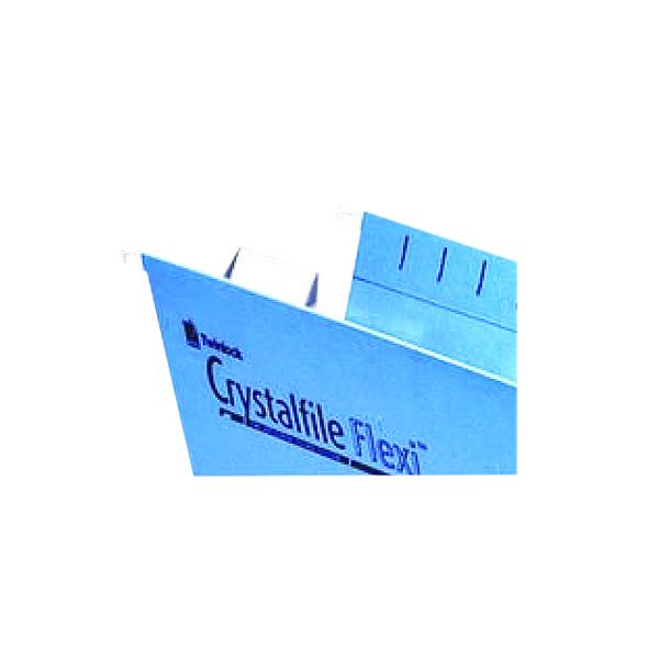 Rexel Crystalfile Flexi Tab Ins Wht P50