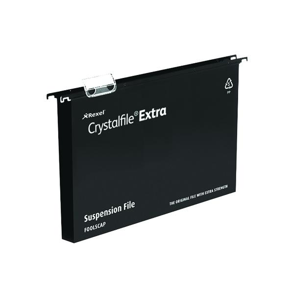 Rexel Crystalfile Ex Suspsn File Blk P25